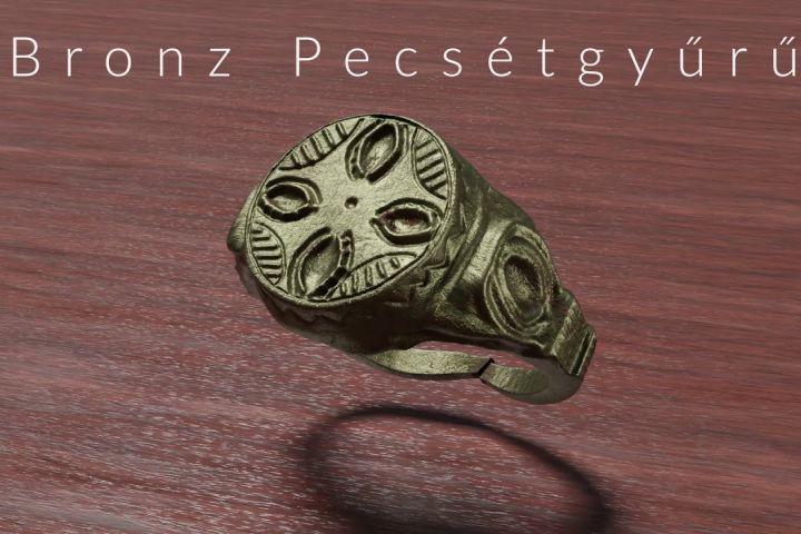 Bronz pecsétgyűrű