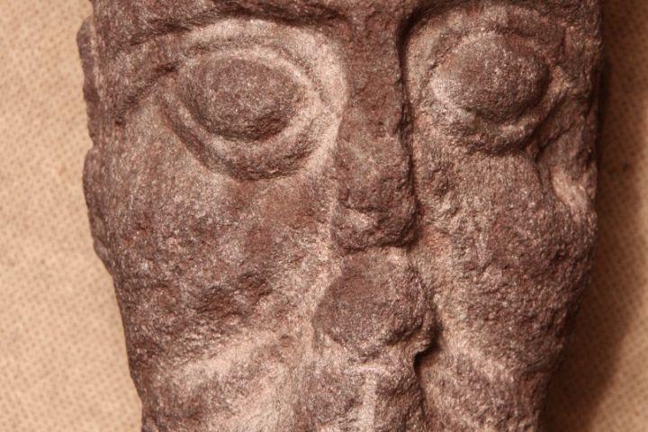 faragott kőfej, Balatonfűzfő, 13. század