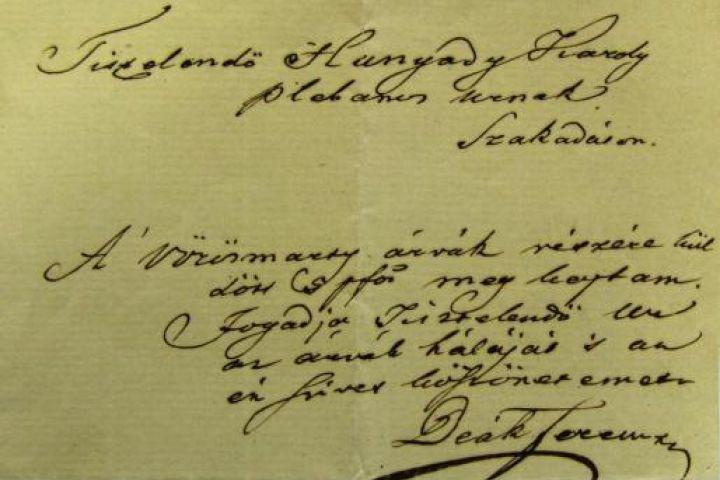 Deák Ferenc írása